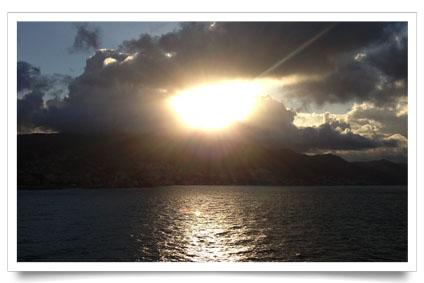 coucher de soleil croisière Dukan MSC Preziosa